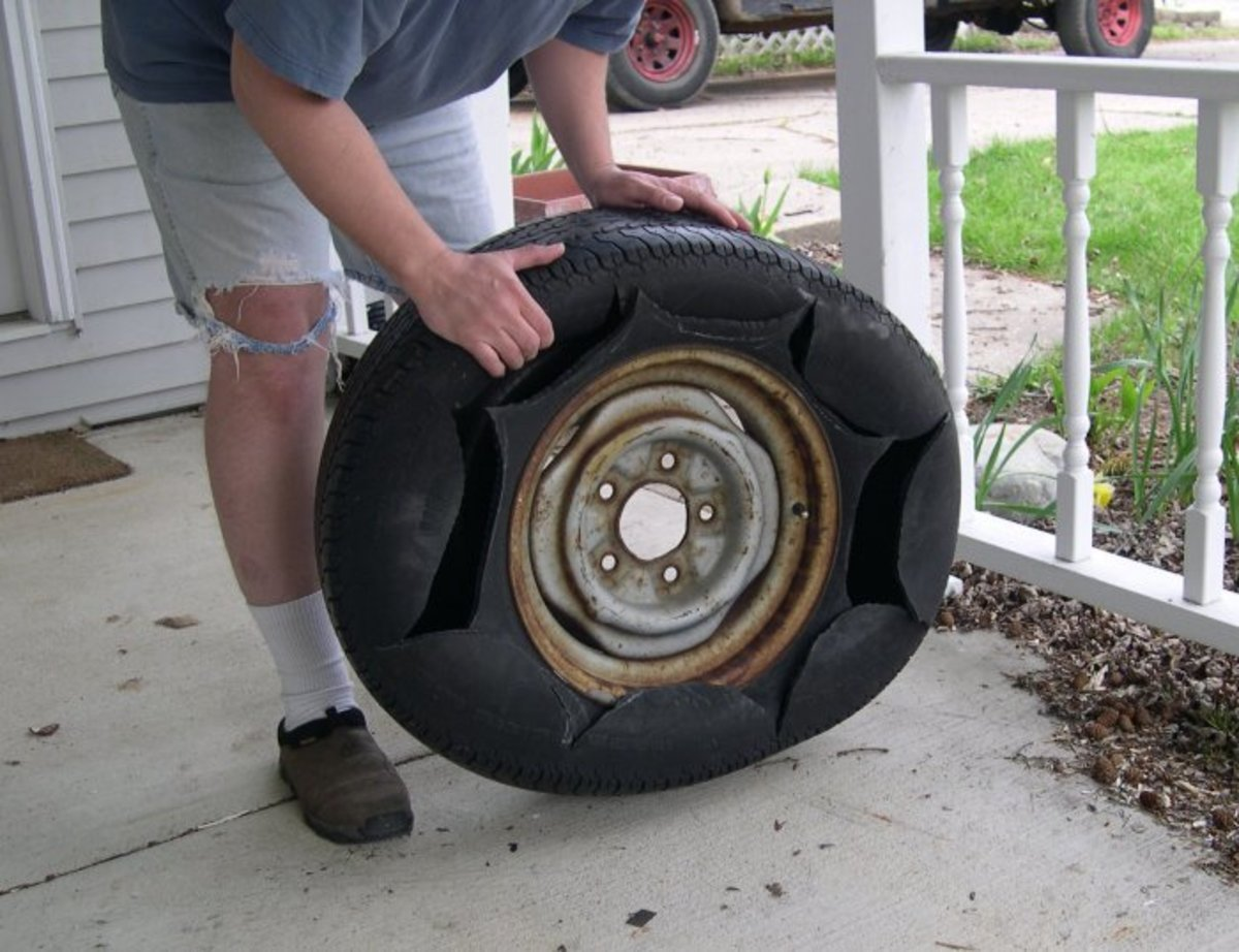 Recycled scrap tires