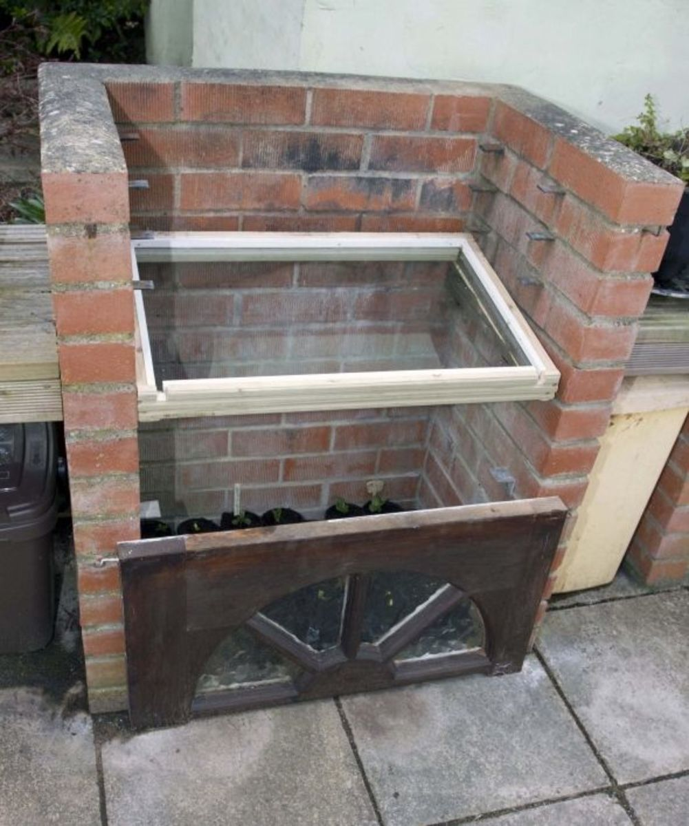 Cold Frame open for ventilation