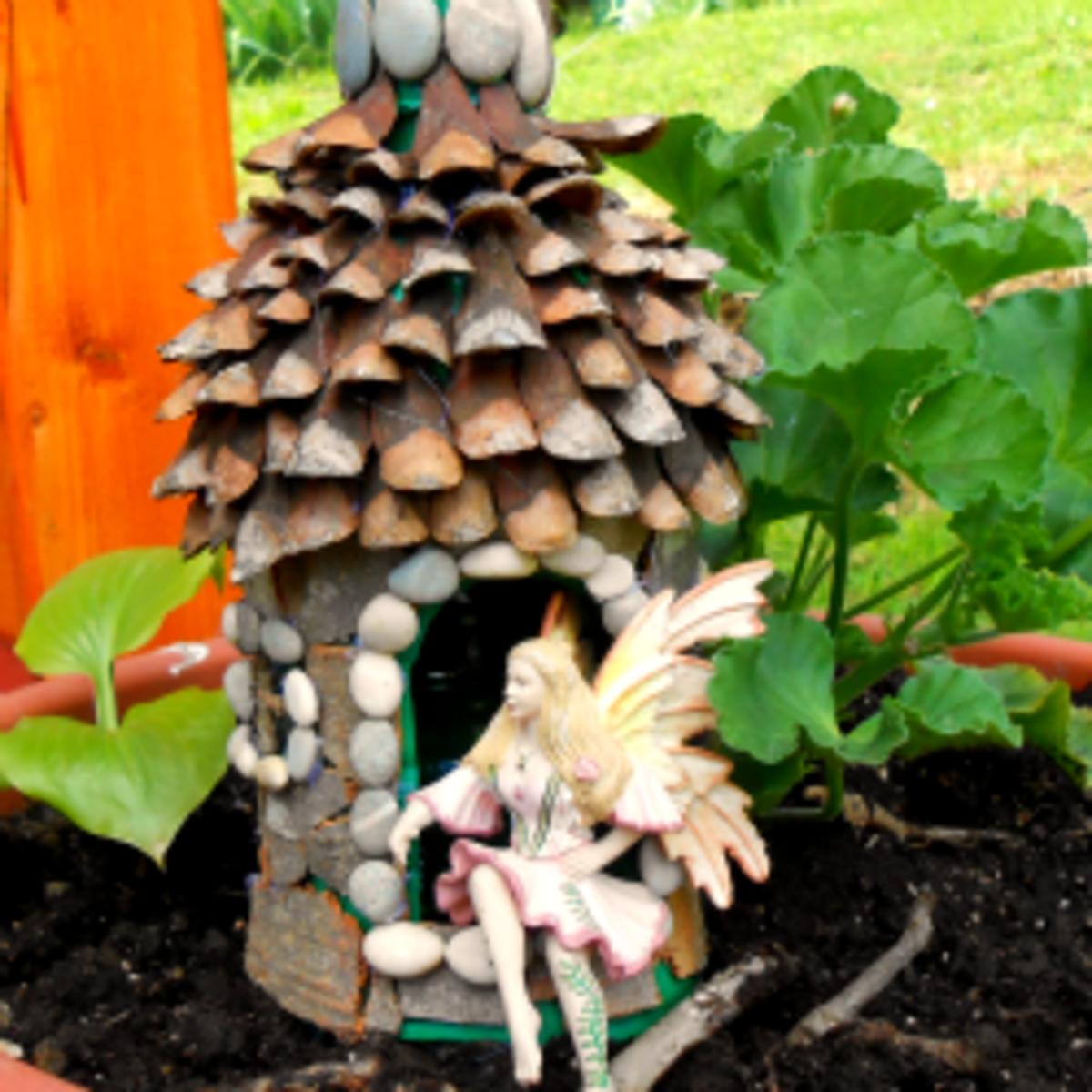 Diy Fairy House L Using E Plastic Bottles