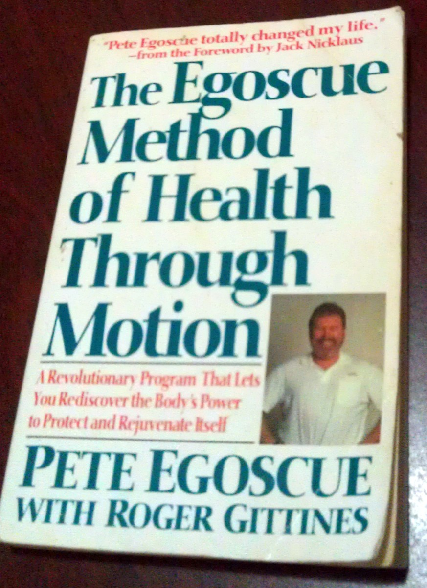 "Egoscue's first book, ""The Egoscue Method of Health Through Motion.""  This book contains descriptions of exercises that work for four different body types."