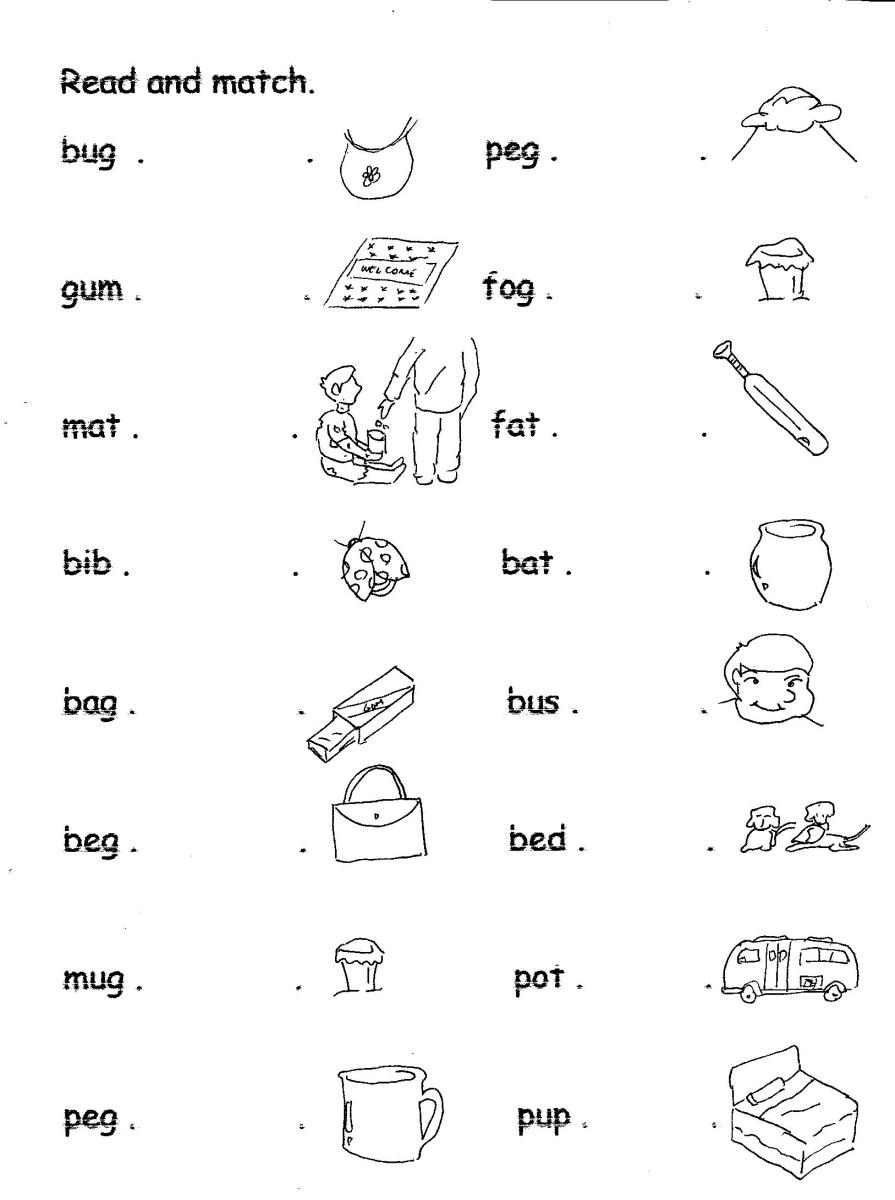 Three Letter Word Reading Worksheets - The Best and Most ...