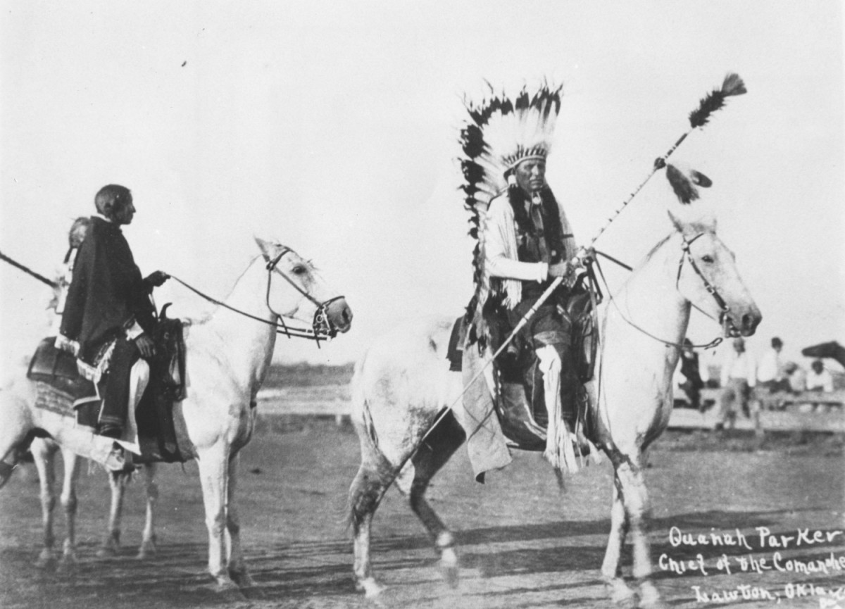 Quanah Parker in Lawton, Oklahoma. Date and photographer unknown.