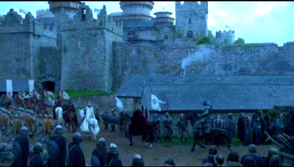 Winterfell after CGI added to Castle Ward