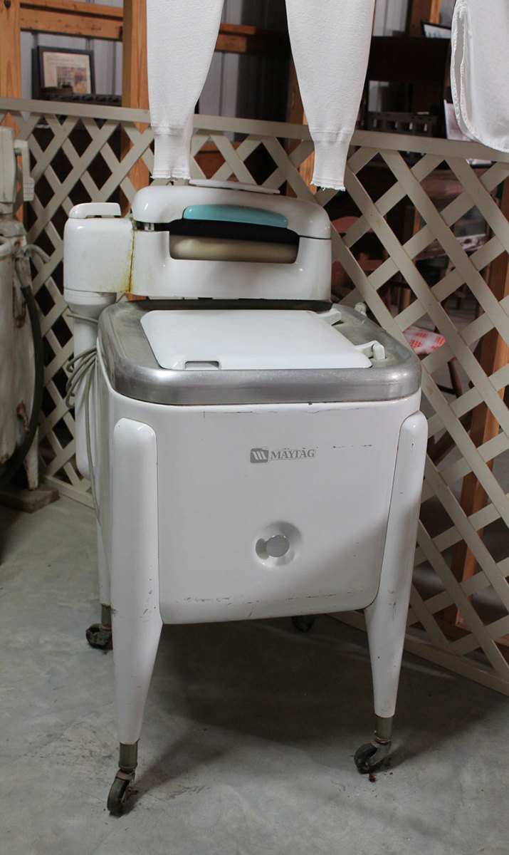 Maytag Wringer Washer used up until the mid 1900s and still being used by the Amish
