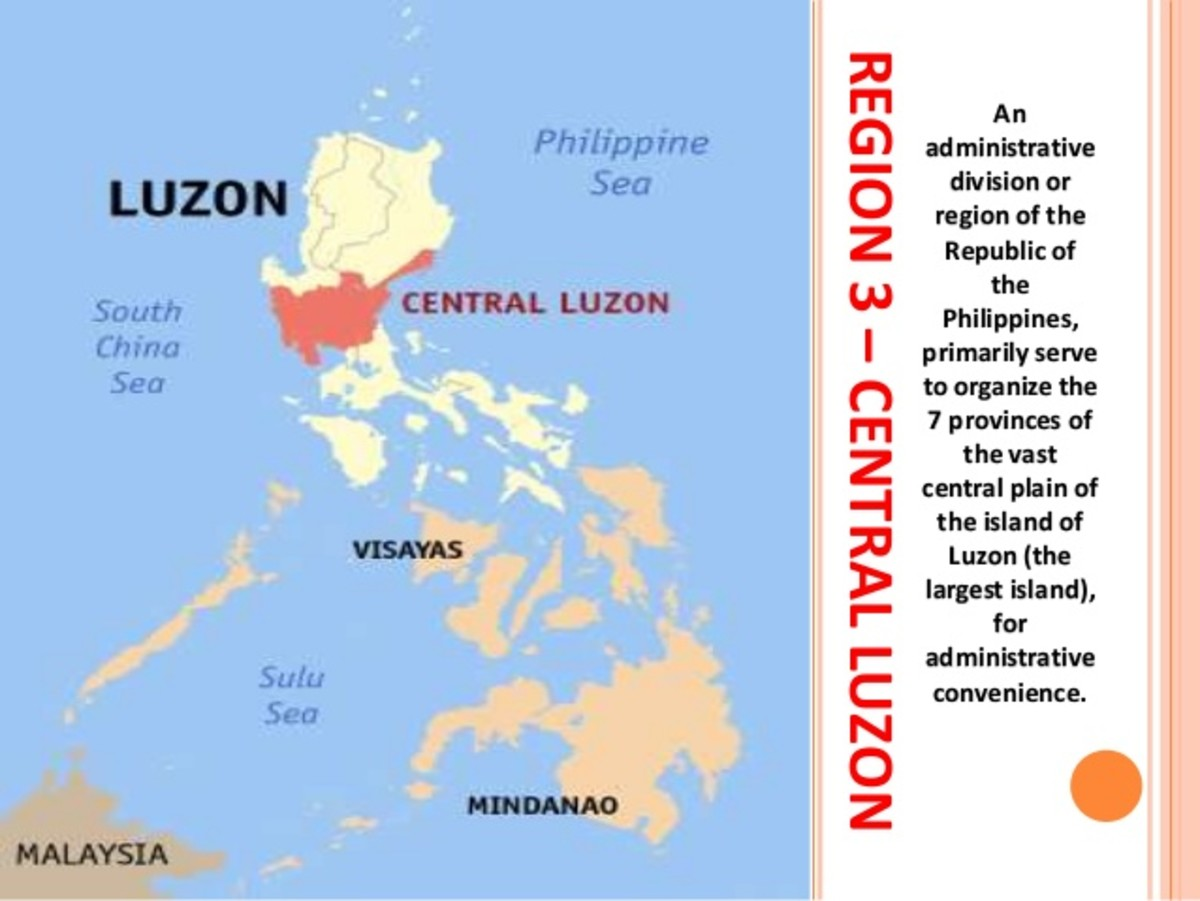 Luzon, Visayas, and Mindanao on the map.