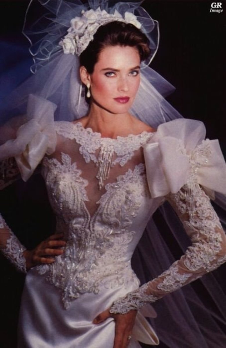 Carol Alt In Wedding Gown Circa 1980s