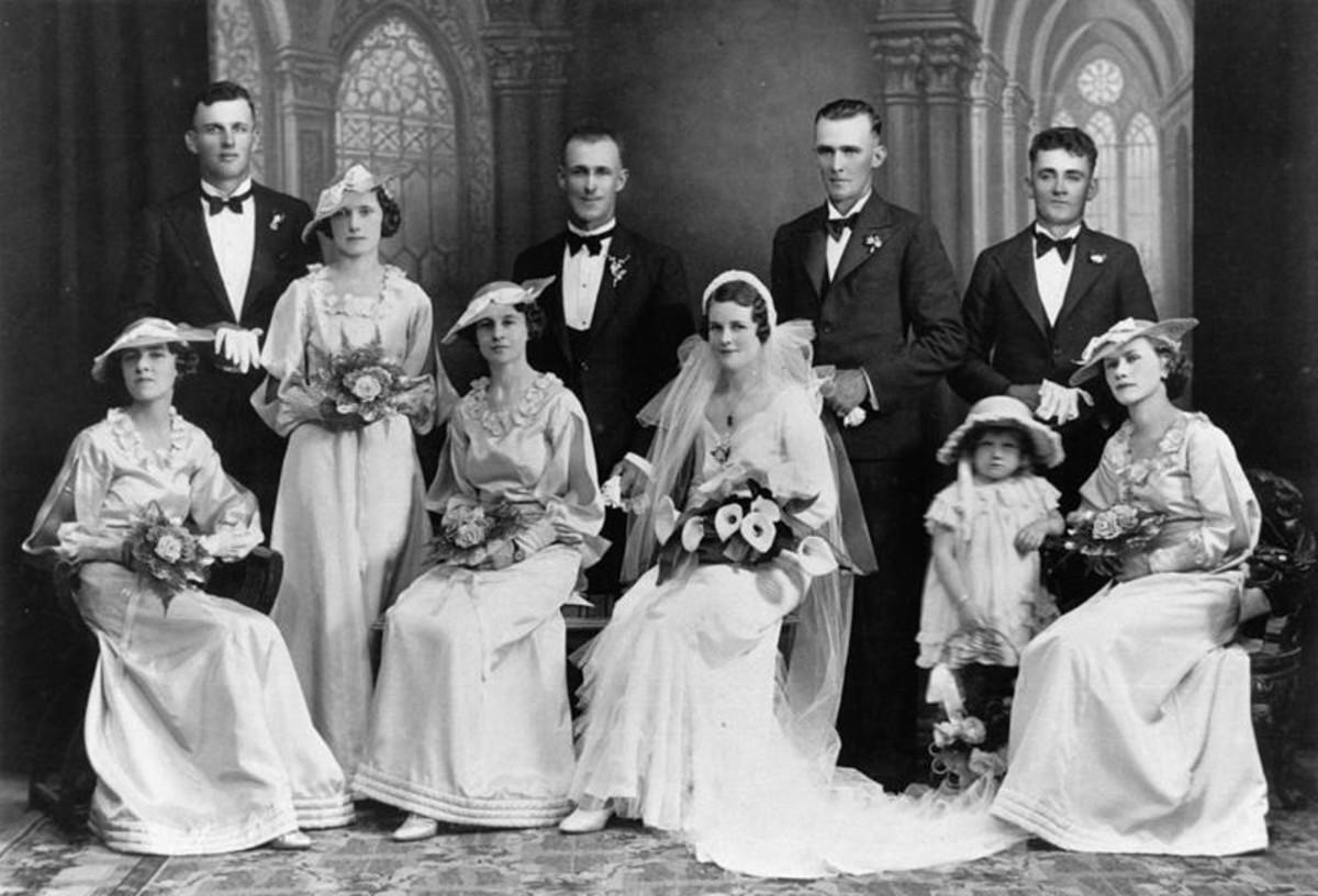 Circa 1930 Bridal Party