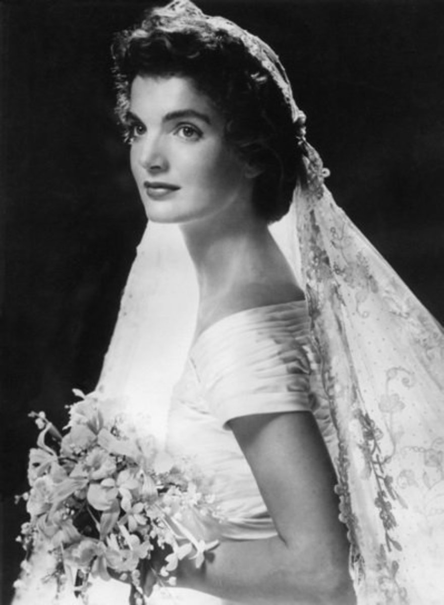 Jacqueline Kennedy On Her Wedding Day Circa 1960s