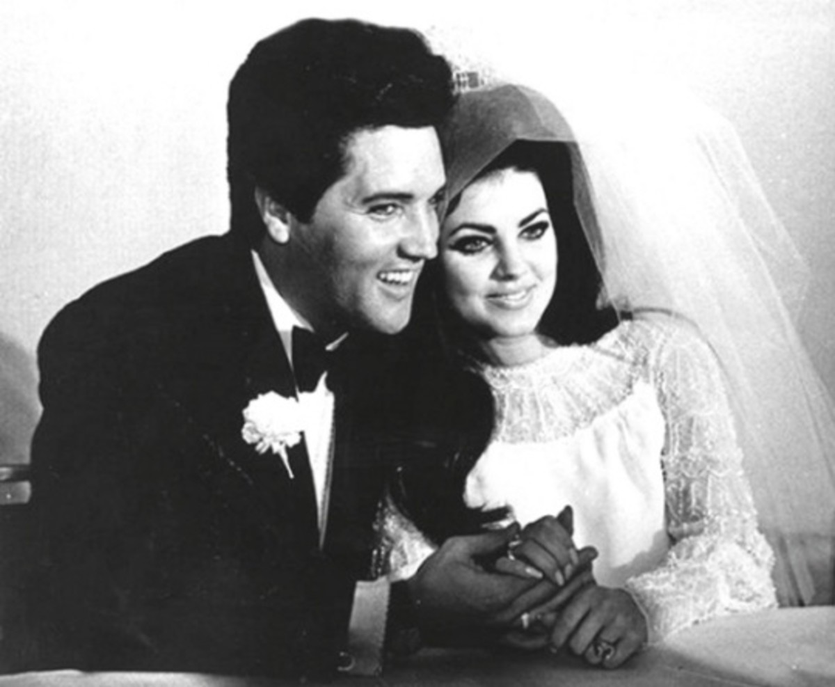 Elvis And Priscilla Presley On Their Wedding Day Circa 1960s