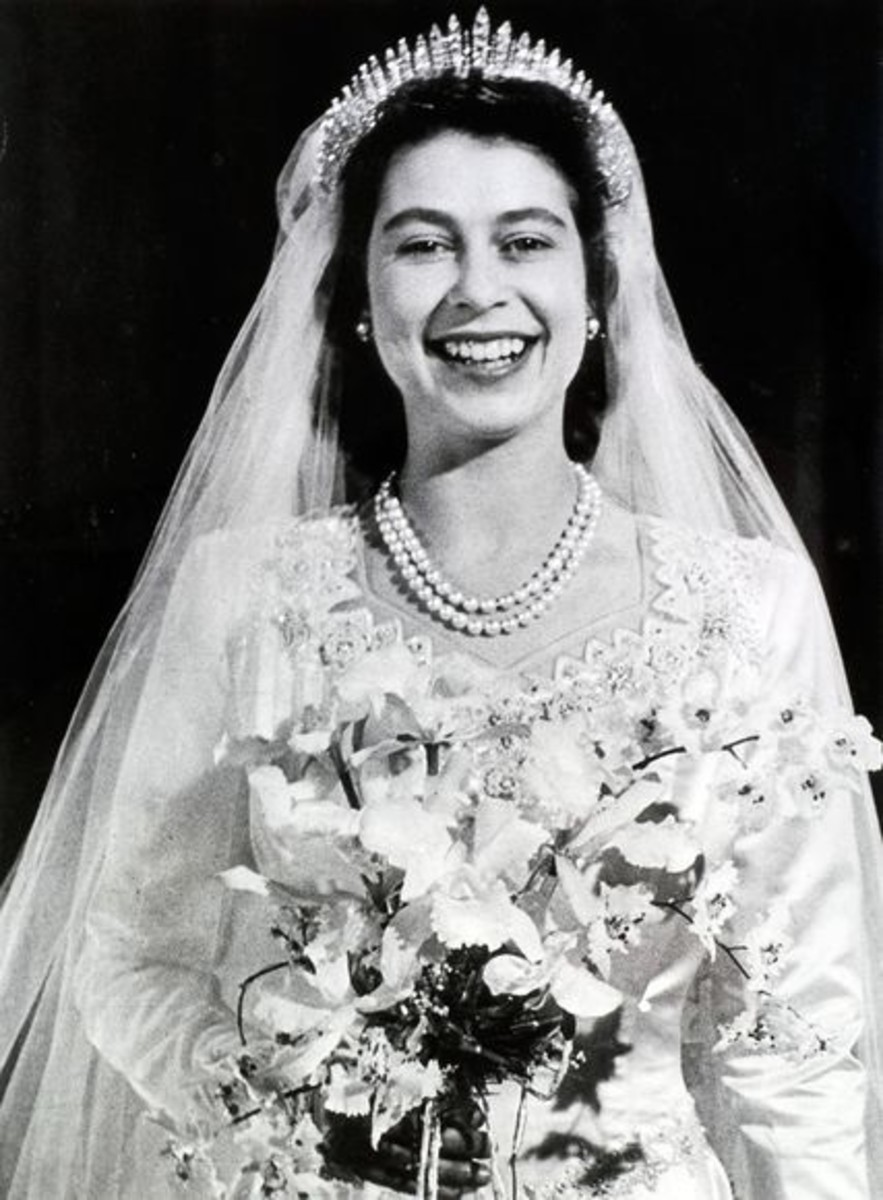 Queen Elizabeth II In Her Wedding Gown 1947