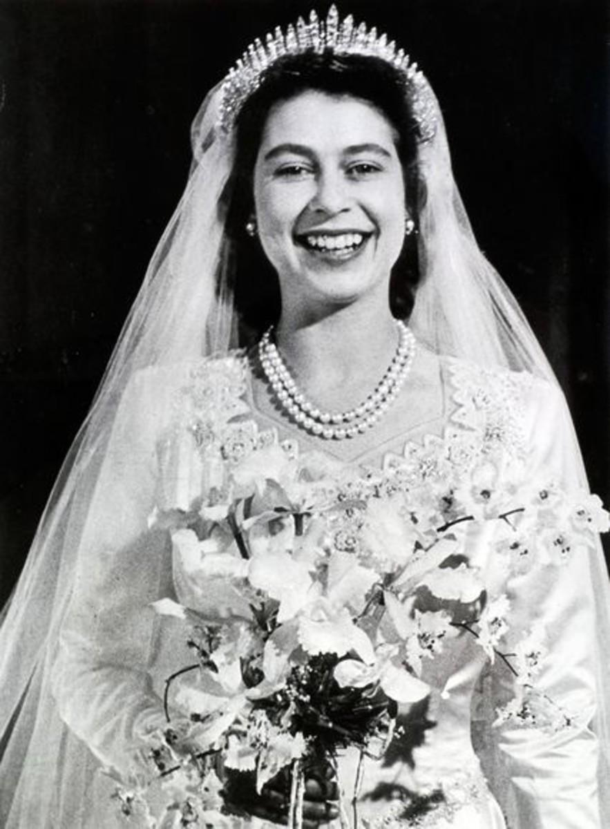 Queen Elizabeth II In Her Wedding Gown 1947