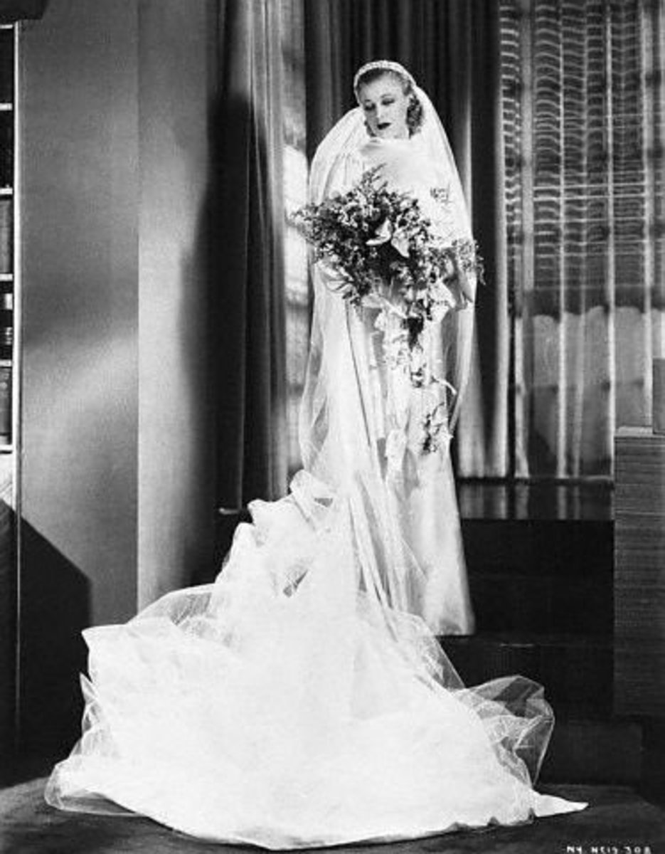 Ginger Rogers In Her Wedding Gown