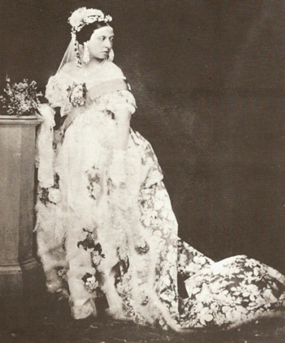 Queen Victoria In Her White Wedding Gown