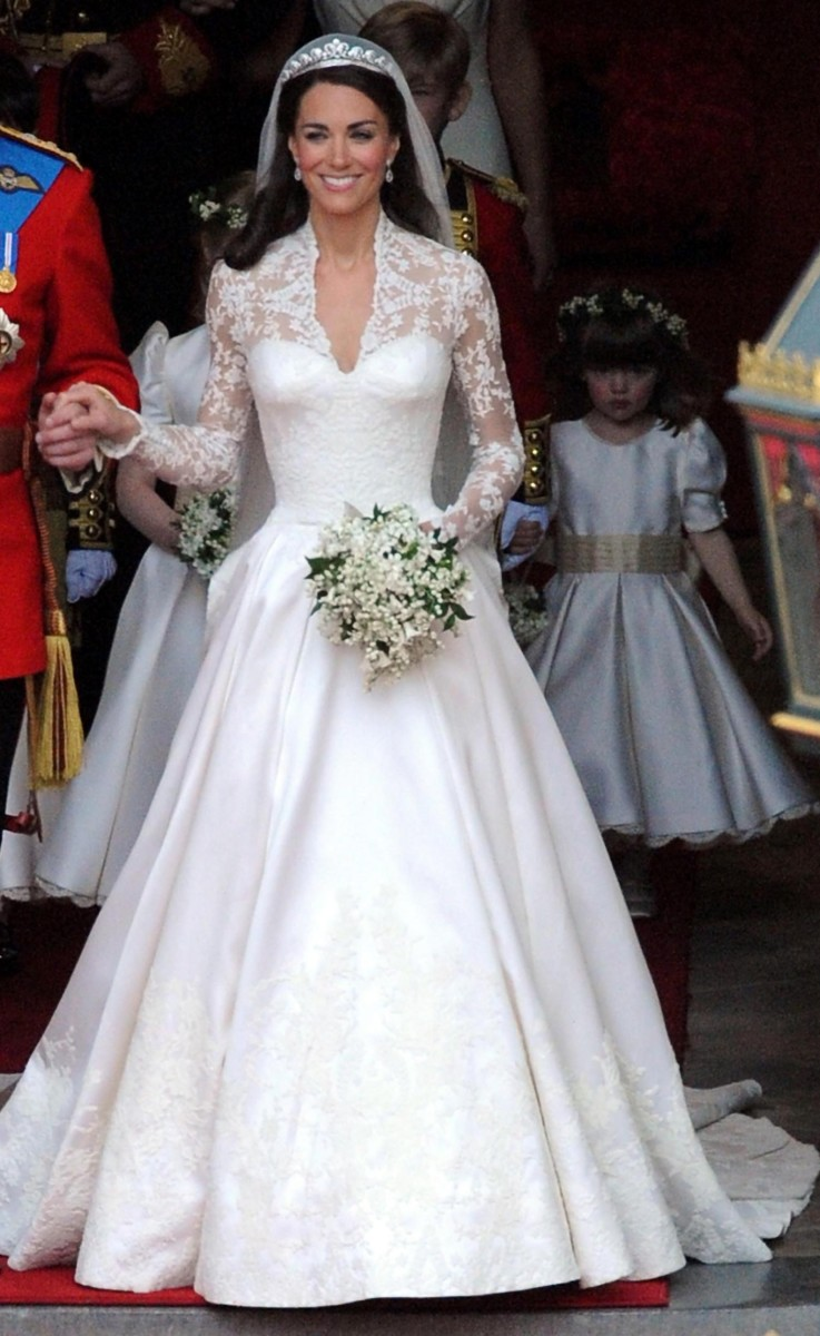 Kate Middleton In Wedding Gown