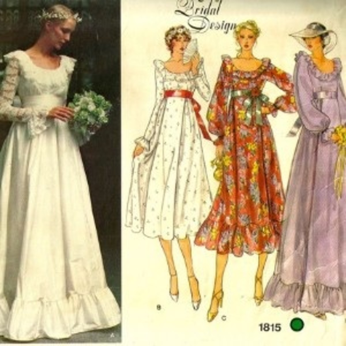 """""""Flower Power"""" Wedding Gown"""