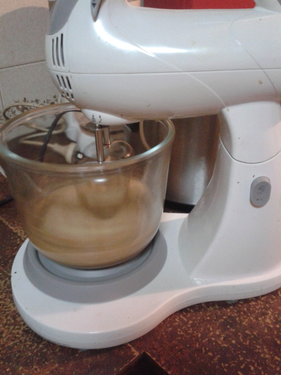 Mixing your peanut butter cookies in a stand mixer is faster, but you can do it by hand if you haven't got one.