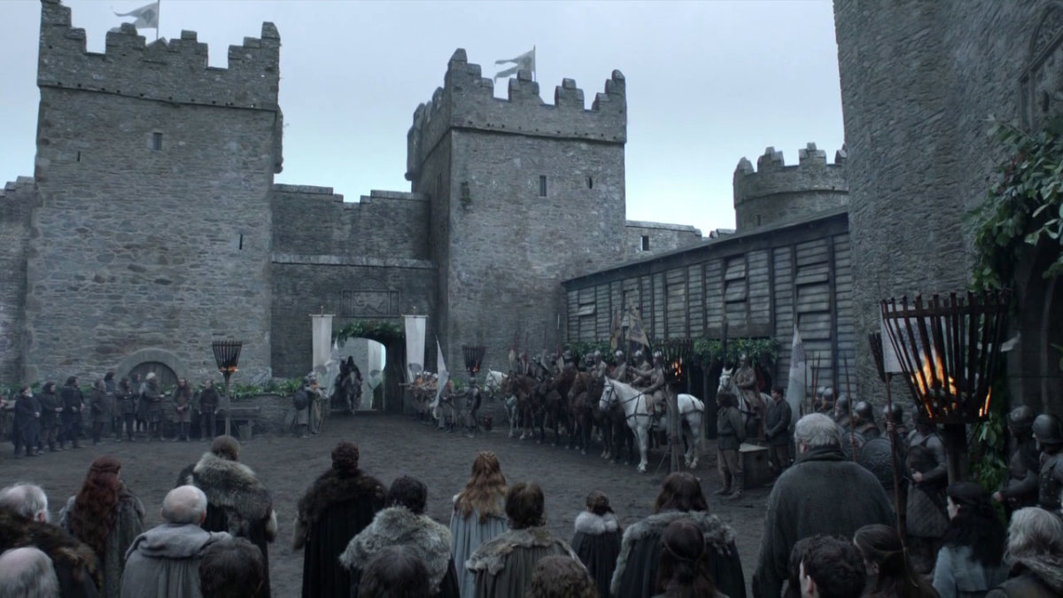 Castle Ward standing in for Winterfell