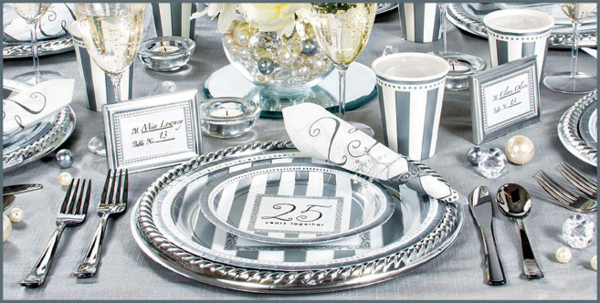 Crockery for Silver Wedding Anniversary