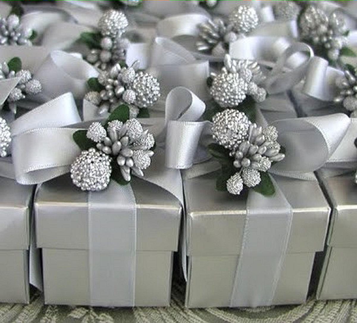 Silver Favour Boxes