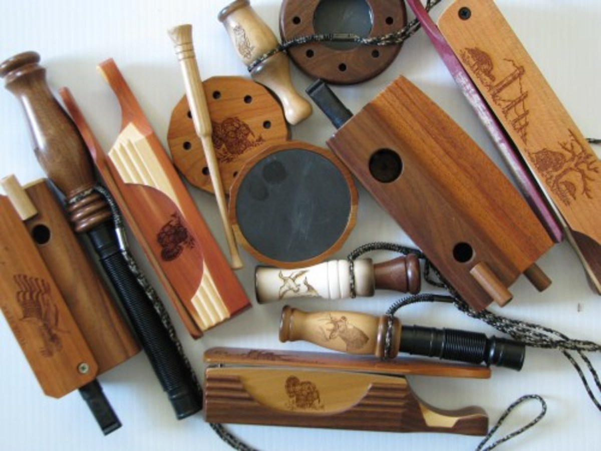 Amish crafted wooden hunting and game calls