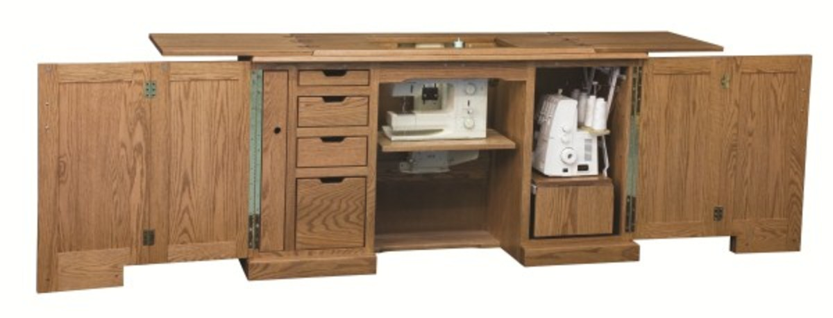 Amish crafted sewing cabinets