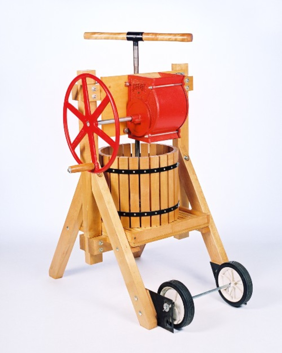 Apple cider, wine presses and orchard products