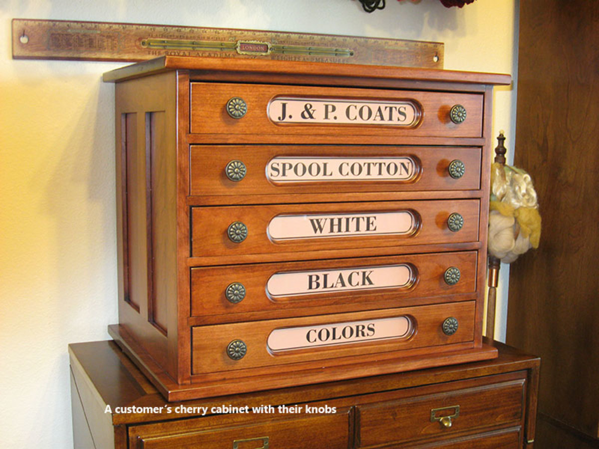Reproduction sewing thread spool cabinet makes a great end table, sewing room cabinet, arts, crafts and scrap book cabinet.