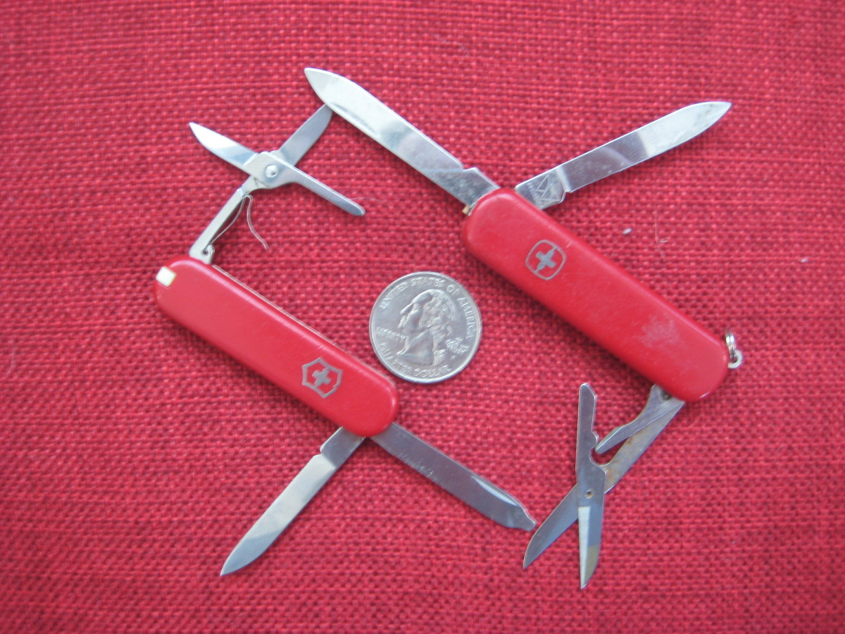 The Victorinox Classic and Wenger Esquire are perfect knives to carry with you onto the plane.