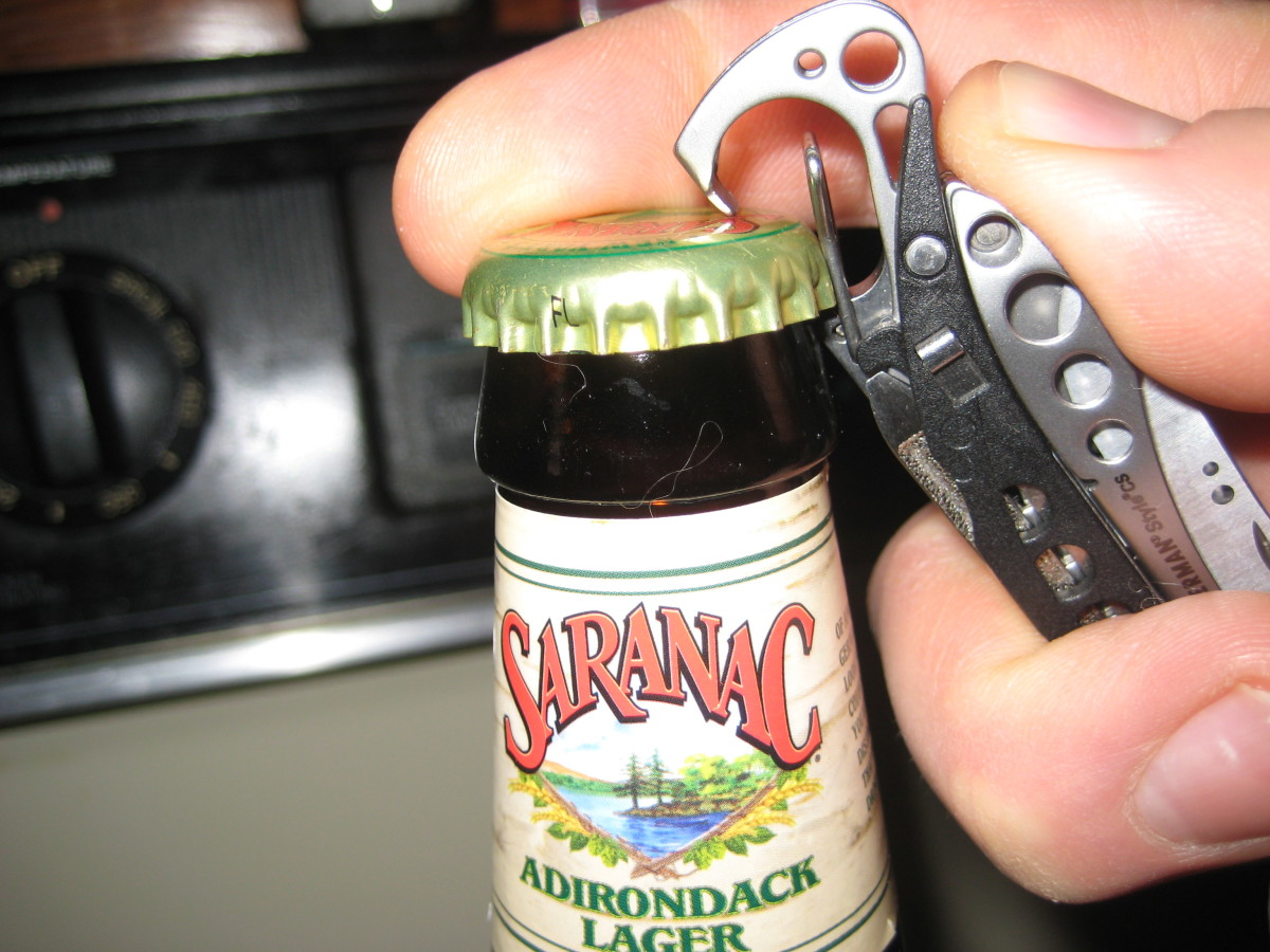 How to use the bottle opener on the Leatherman Stylus CS.
