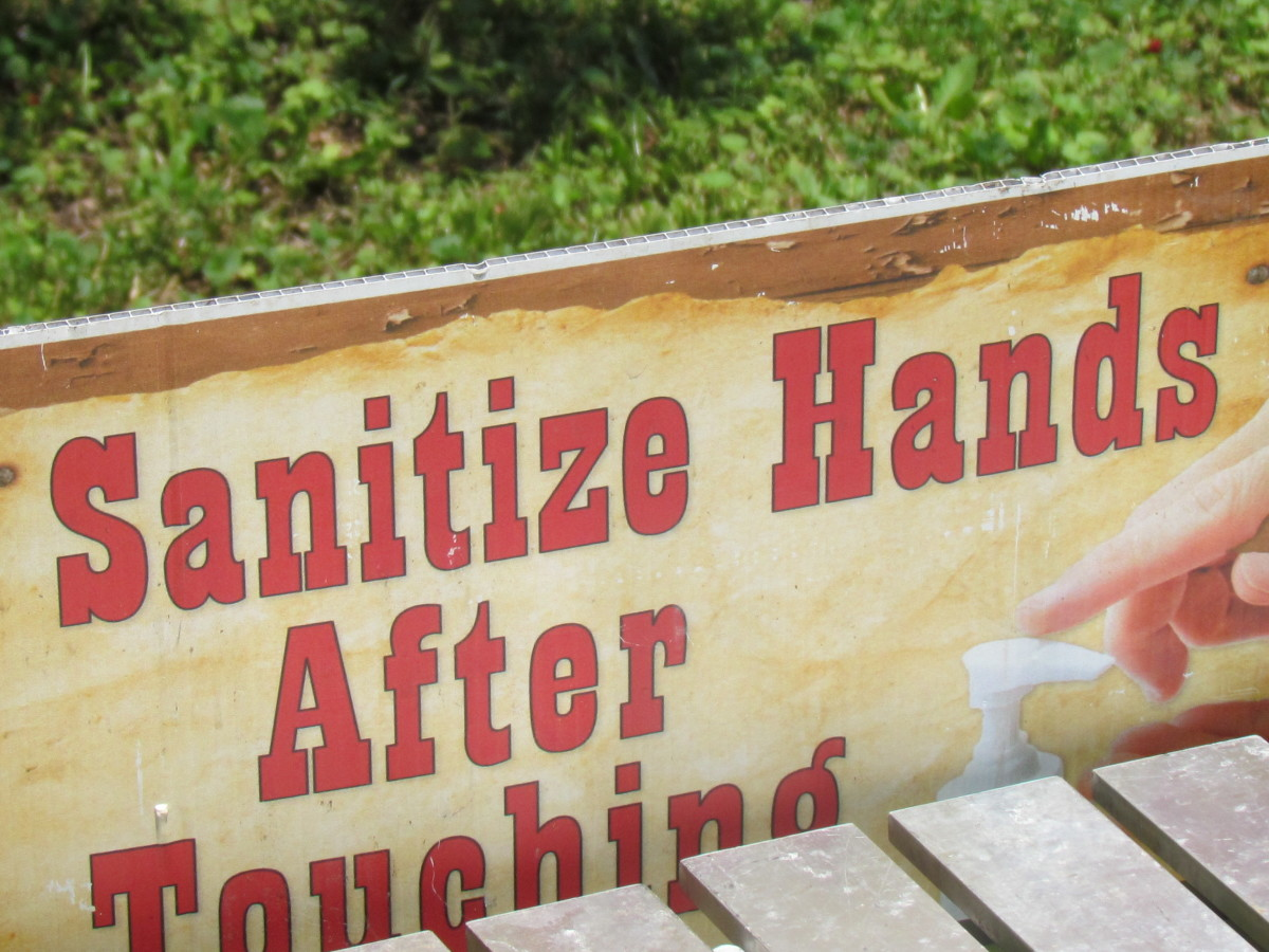 Hand sanitizer was provided after leaving the petting zoo.