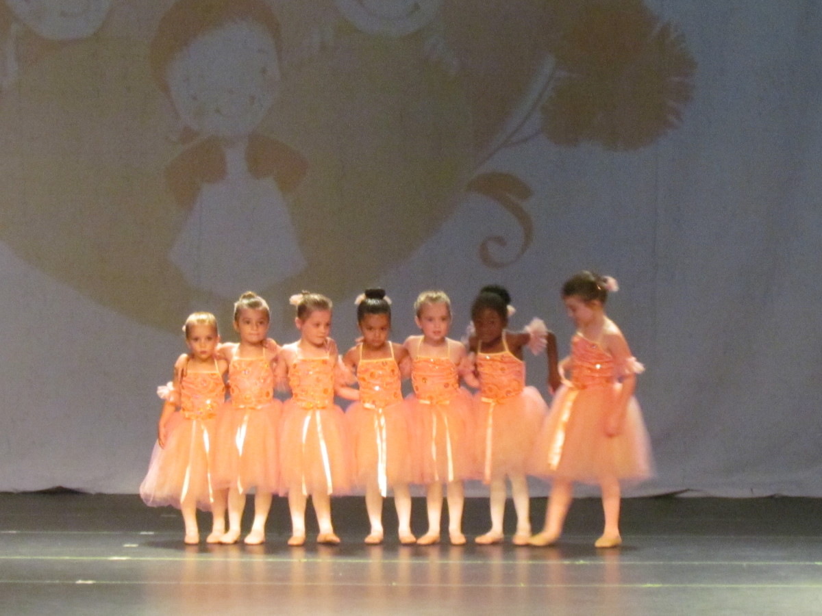 The cutest little ballerinas of Diane Mathews School of Dance Arts, performed on stage.