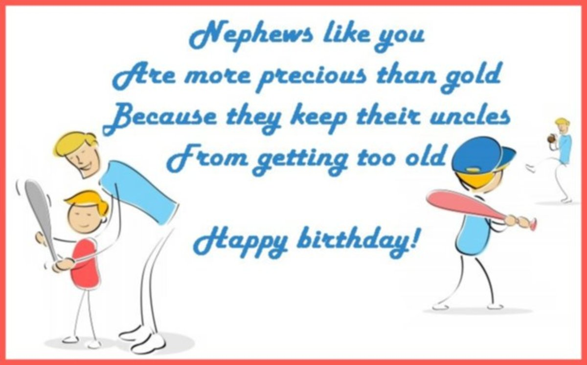 Funny birthday wish from an uncle to his nephew.