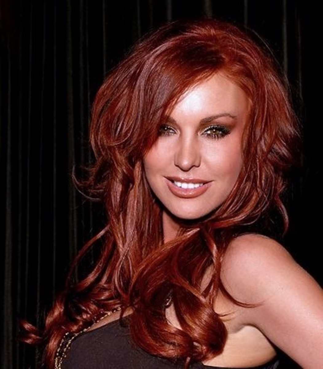 Pictures Of Dark Red Hair Color A Dark Red Shade That