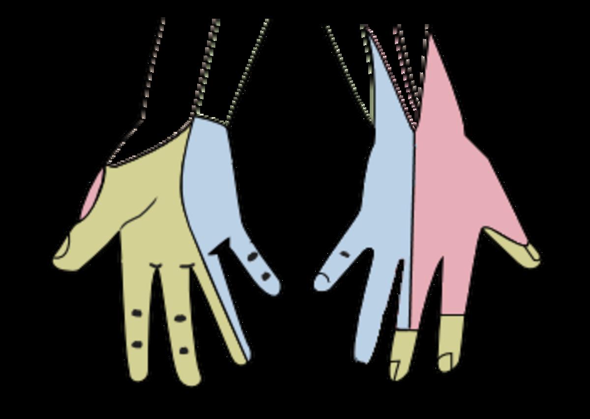Green: the median nerve; Blue: the ulnar nerve; Red: the radial nerve