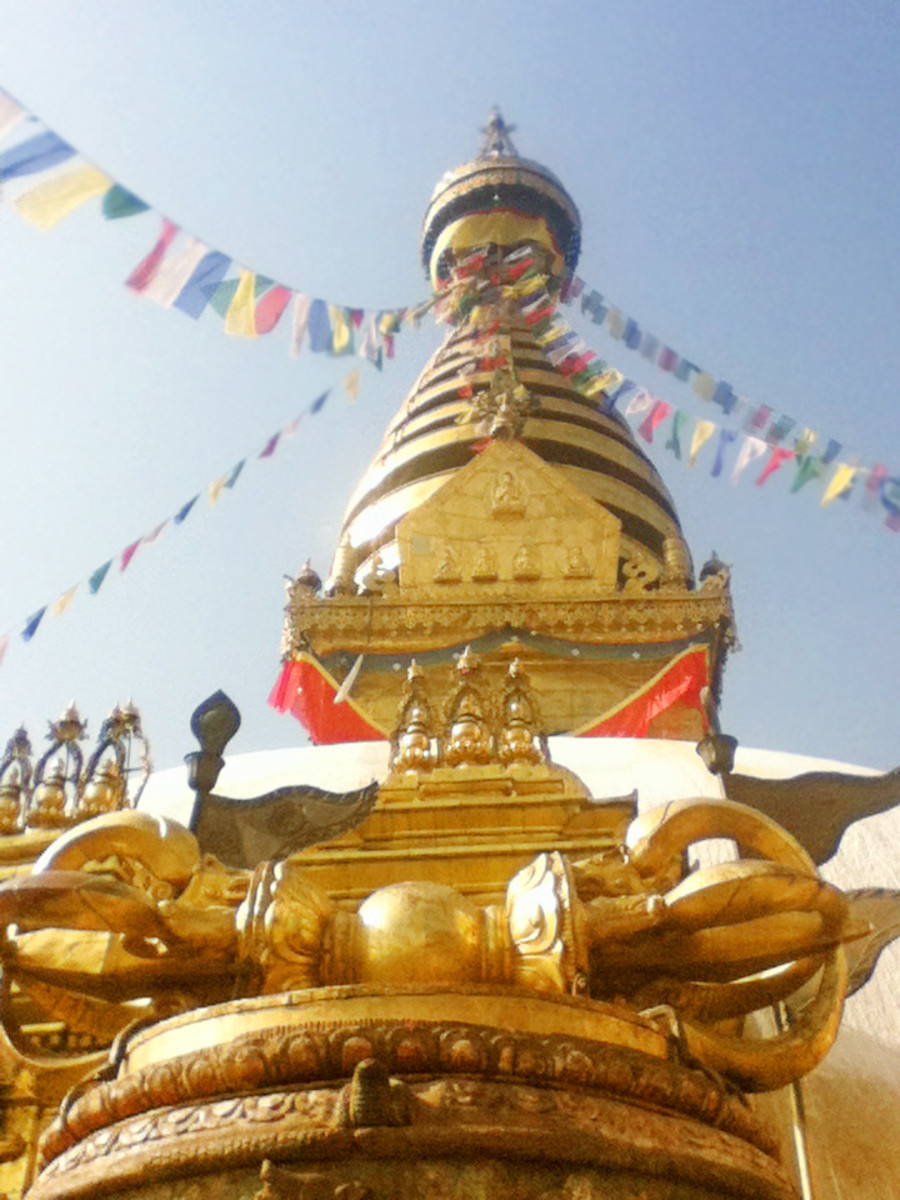 Vajra,the thunderbolt in front of Swayambhunath