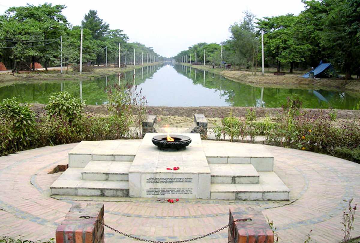 Eternal Peace Flame in Lumbini Garden