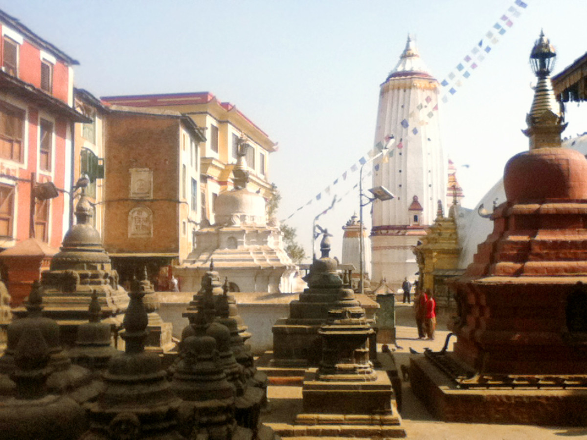 Shrines in Swayambhunath complex