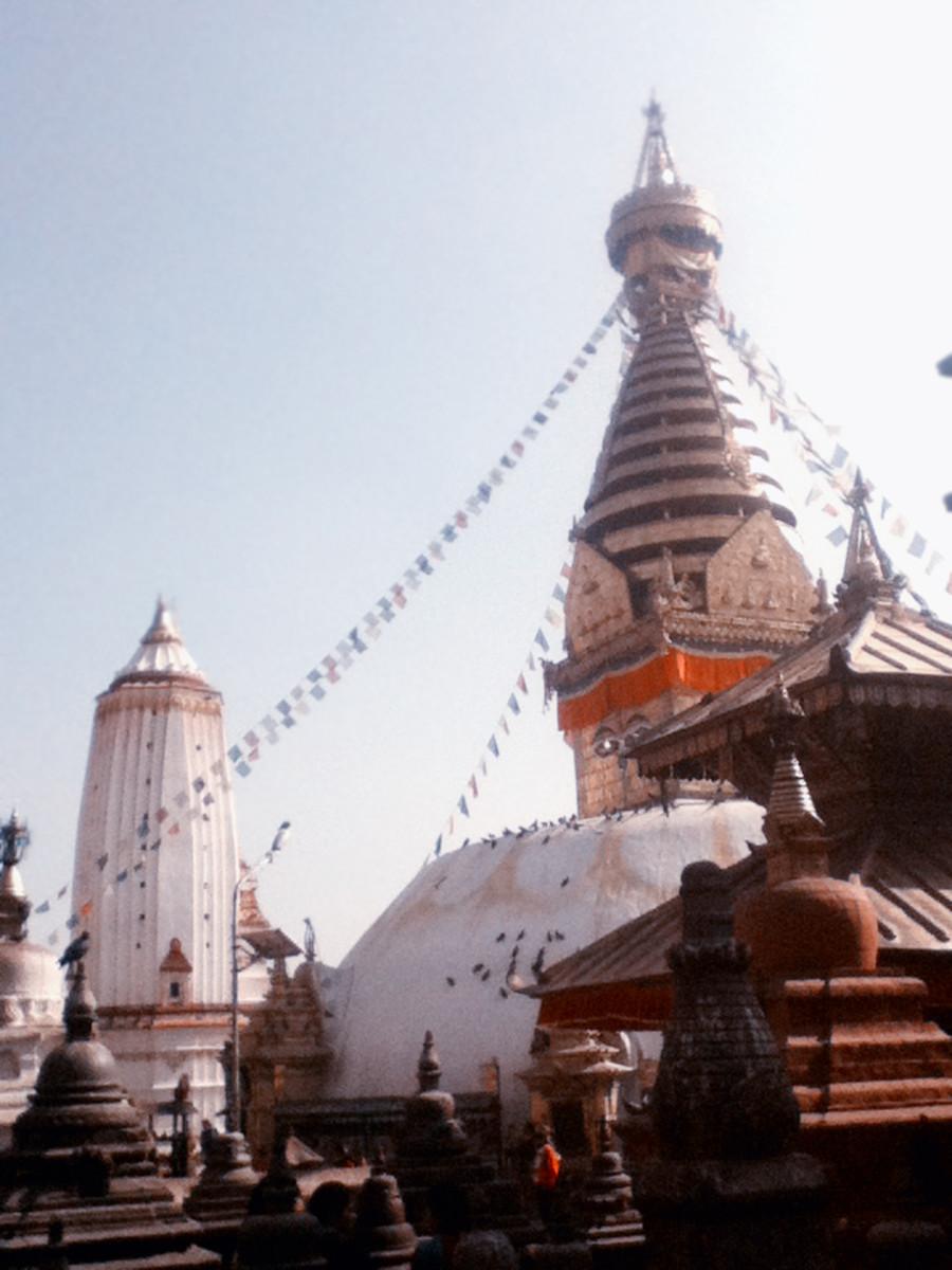 Temples in Swayambhunath complex