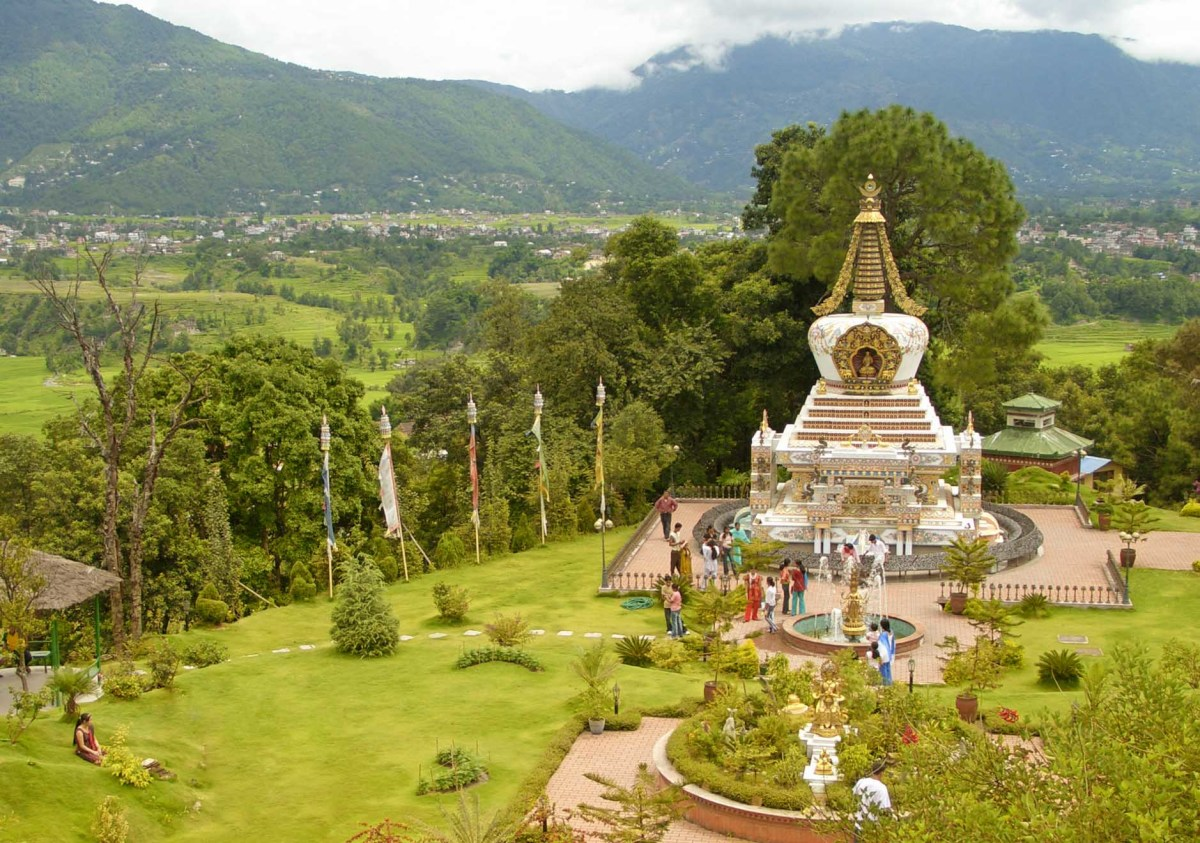 Stupa in Kopan Monastery complex