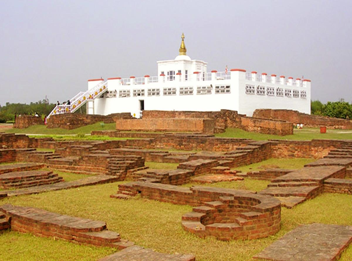 Ruins in Maya Devi Temple complex
