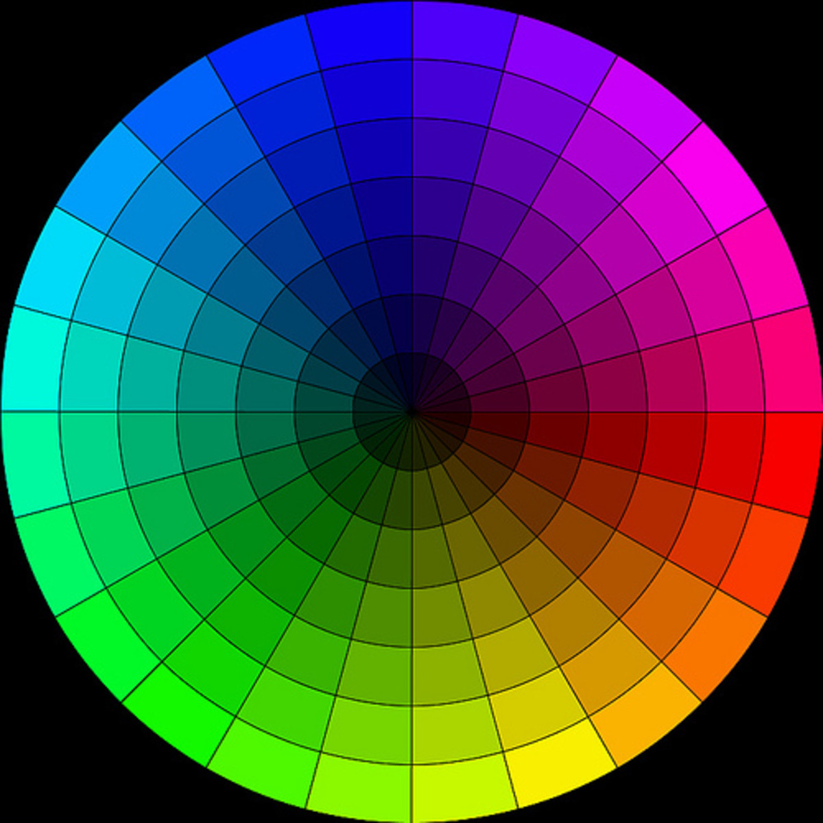 A detailed colour wheel.