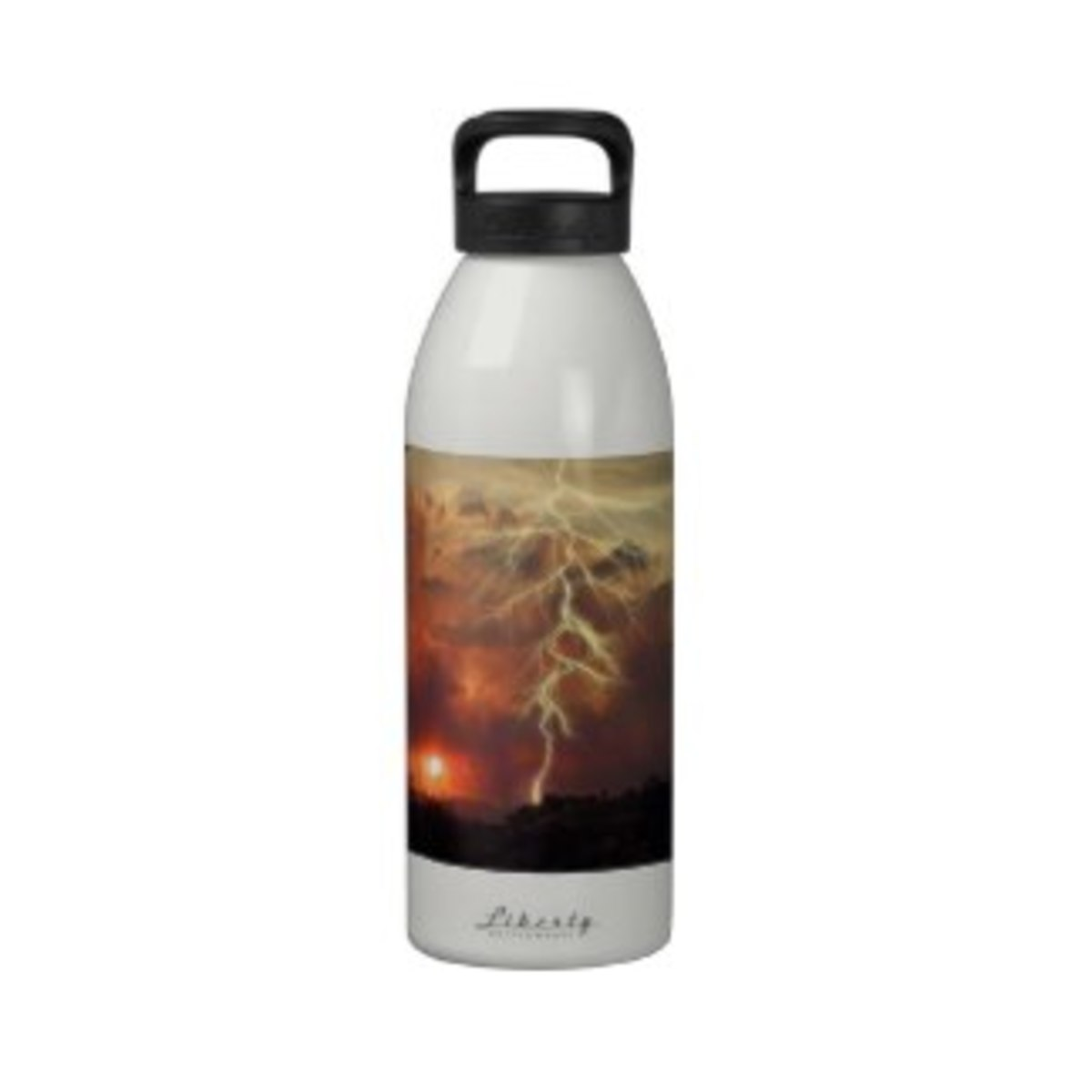 Sunset And Lightning Reusable Water Bottle