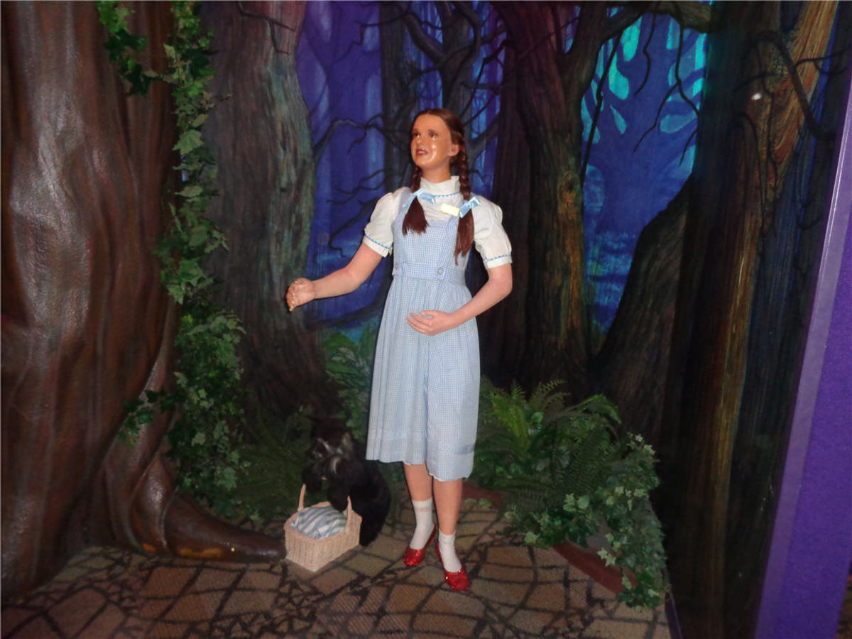 Dorothy from the Wizard of Oz Photo taken at Louis Tussauds Wax Museum in Niagara Falls, Canada
