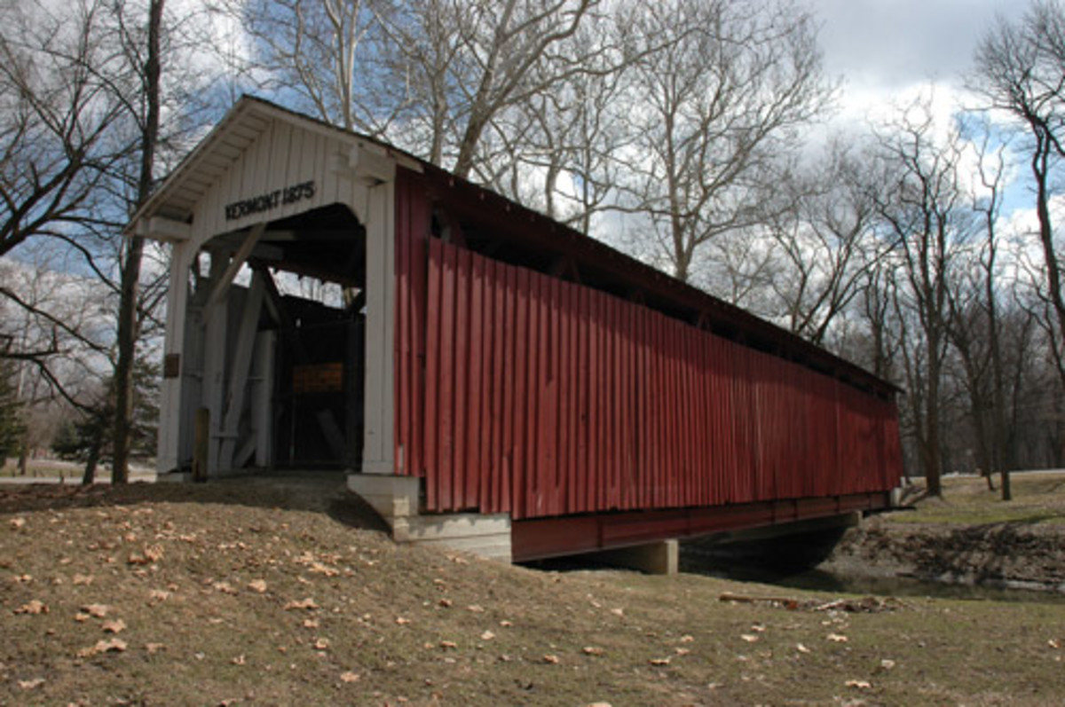 The Vermont Covered Bridge was built in 1875