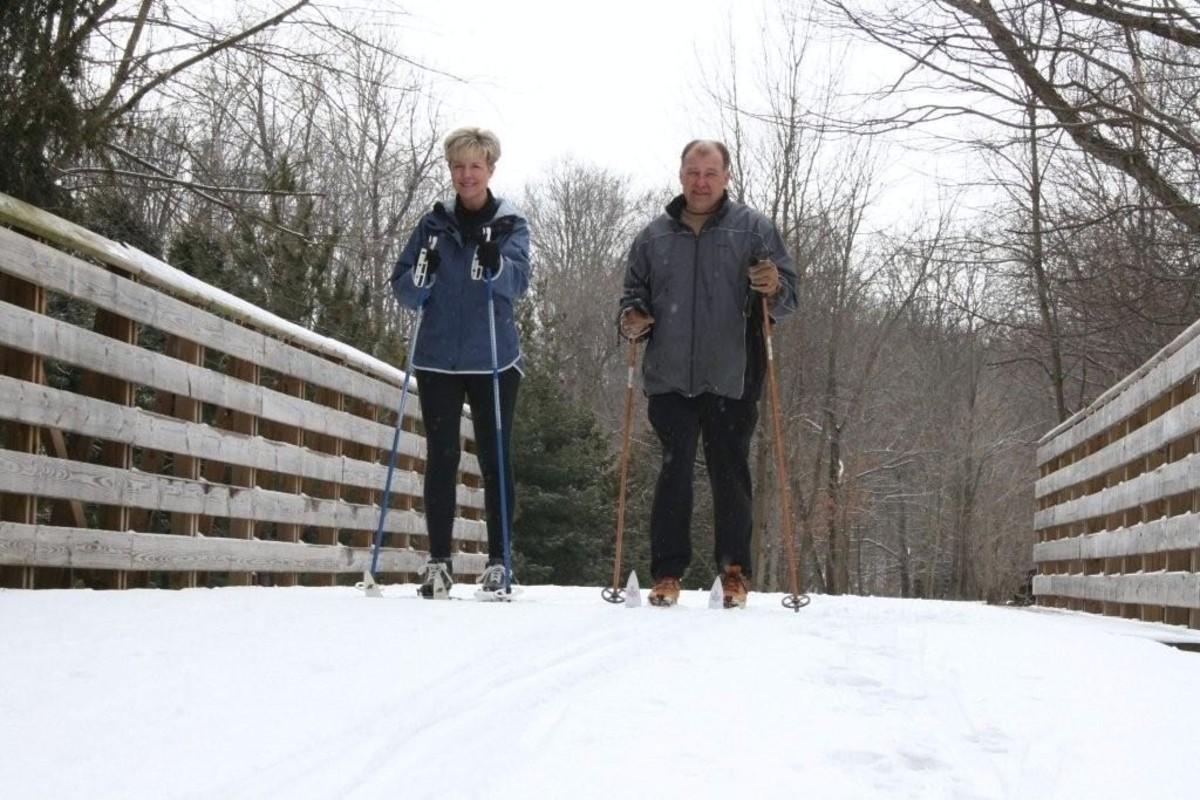 Kokomo doesn't get a lot of snow, but when it does you can cross-country ski on the Nickel Plate Trail