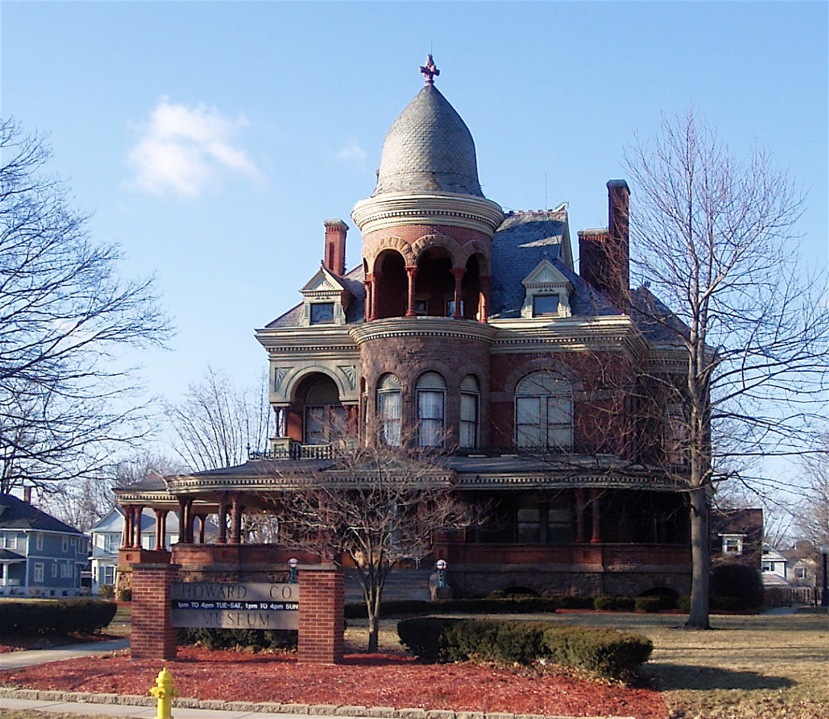The Sieberling Mansion was built in 1890 at a cost of $50,000