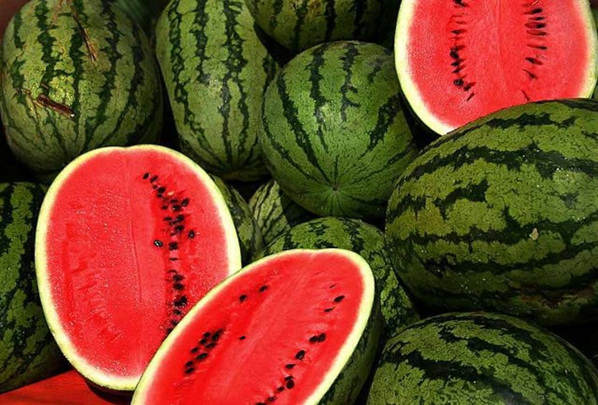 Every part of the watermelon is edible.