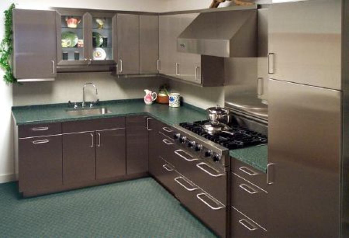 stainless steel in the kitchen