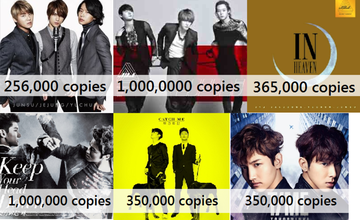 The figures already add majority of the singles they put out in Korea and Japan.