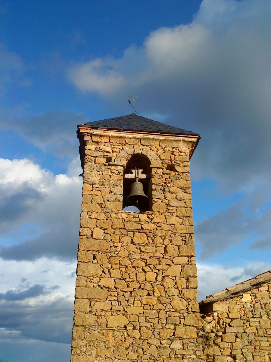 Close up of the bell tower, Santa Engracia.